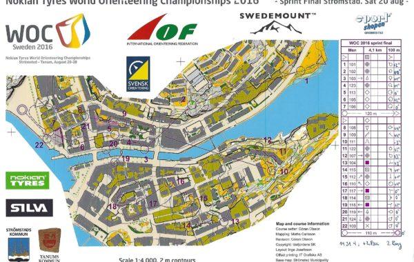 WOC Sprint 2016 Sweden