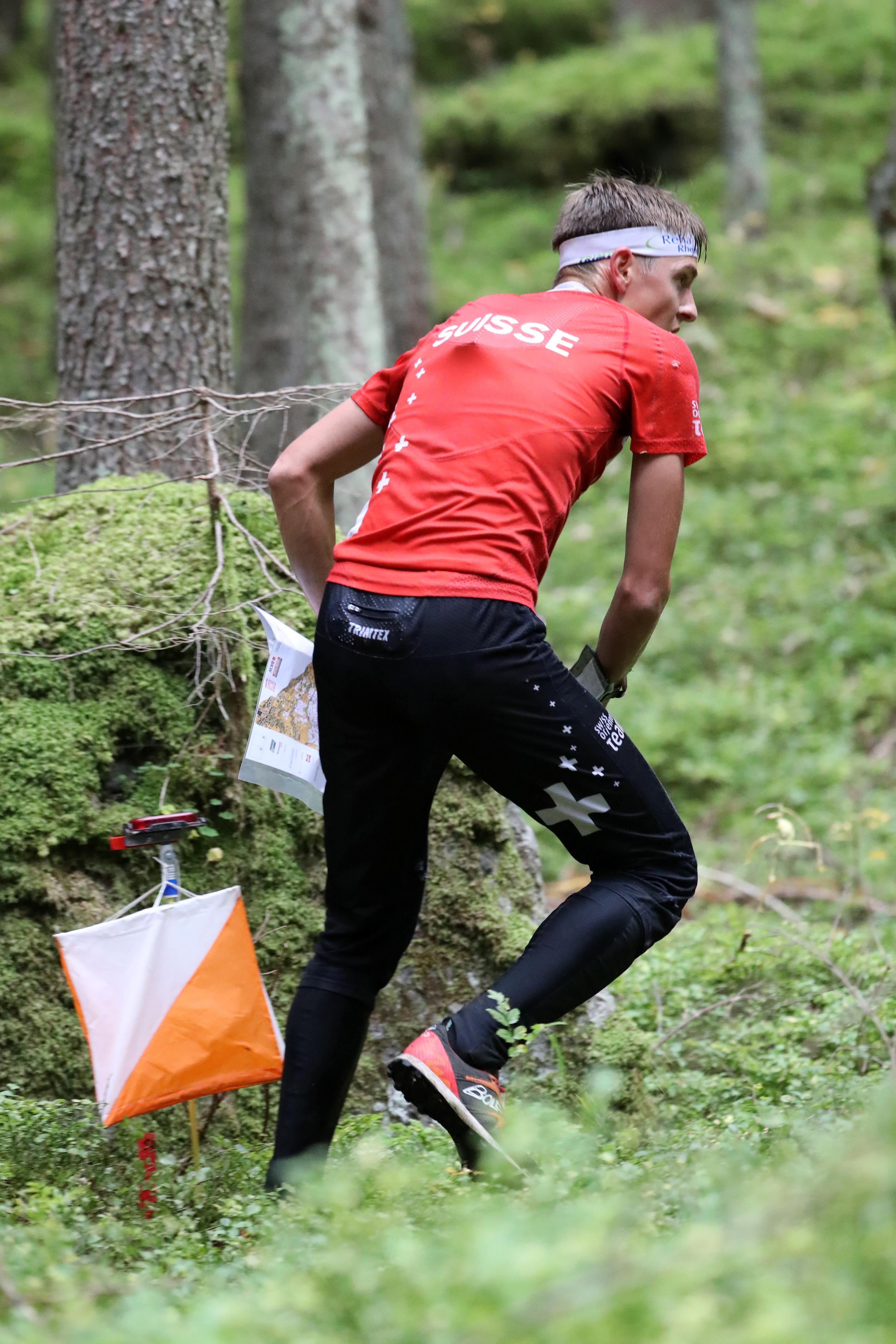 Matthias Kyburz (SUI, Winner) – Middle Distance Men at the EGK Orienteering World Cup Final 2017 in Grindelwald / Switzerland