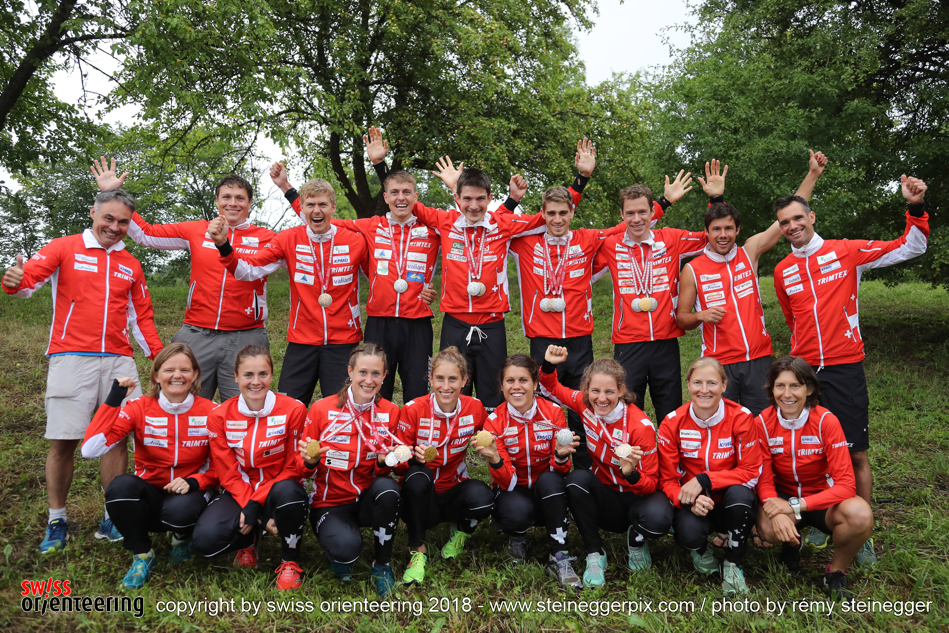 The Swiss Orienteering Team at WOC 2018 Latvia