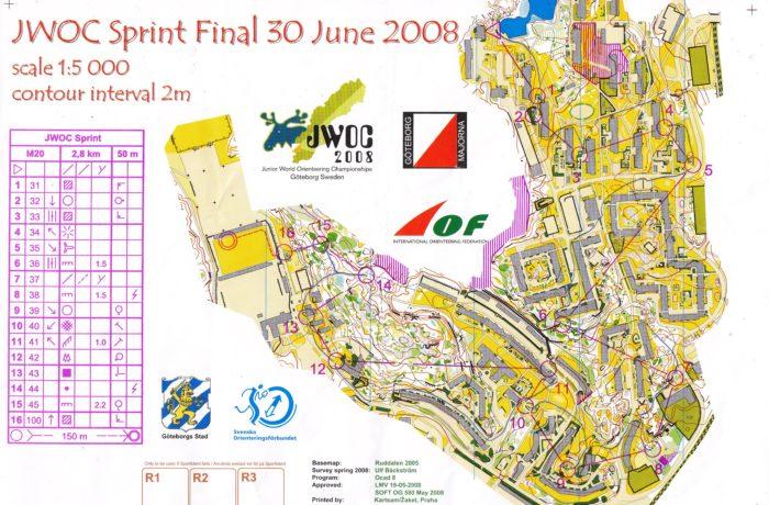 JWOC Sprint 2008 Sweden