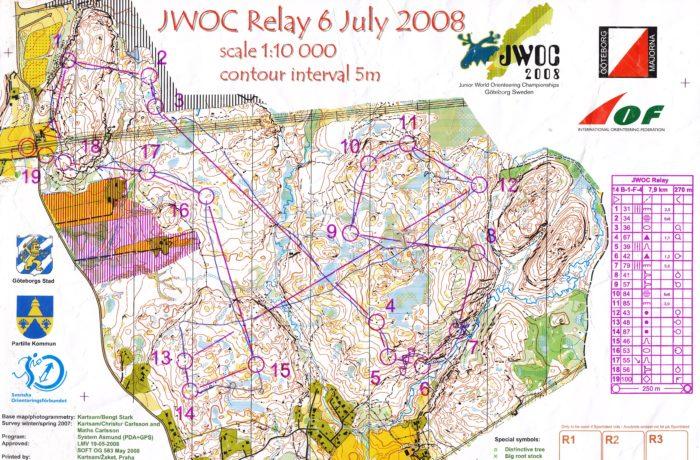 JWOC Relay 2008 Sweden