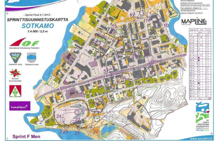 WOC Sprint 2013 Finland