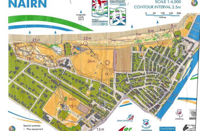 WOC Sprintrelay 2015 Scotland