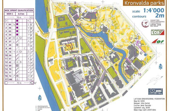WOC 2018 Sprintquali Latvia