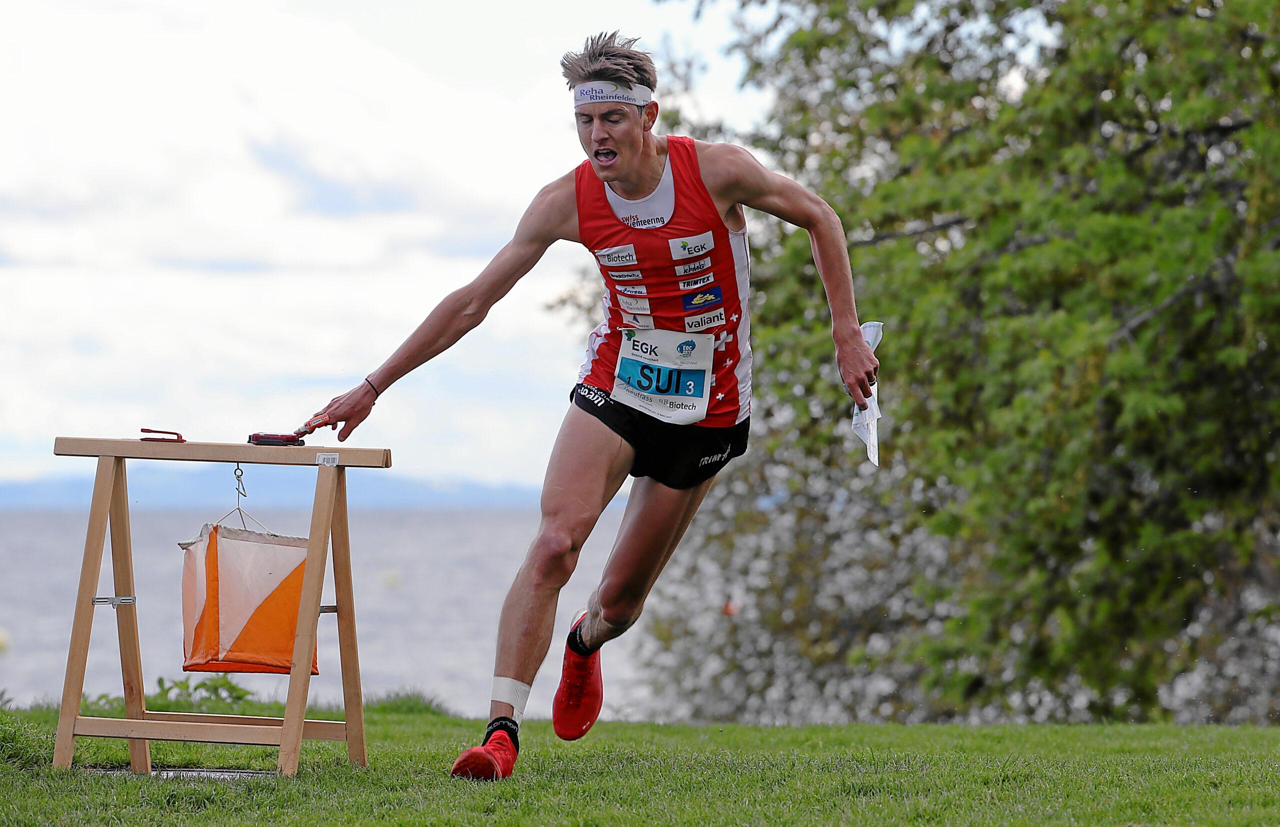 EOC 2021 Neuchatel. Mixed Sprint Relay -Matthias Kyburz (Switzerland)